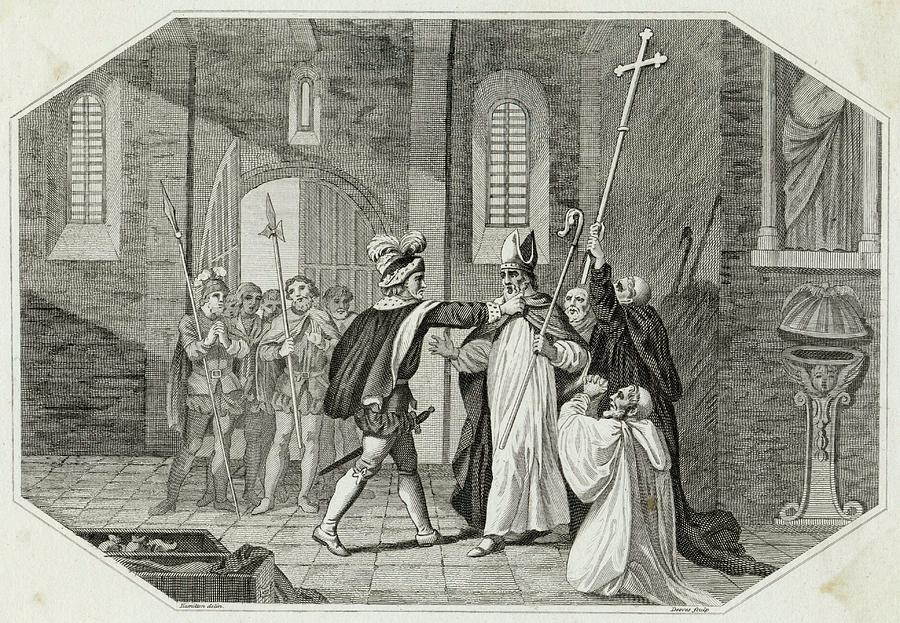 Events Drawing -  William I Arrests Odo, Bishop by Mary Evans Picture Library