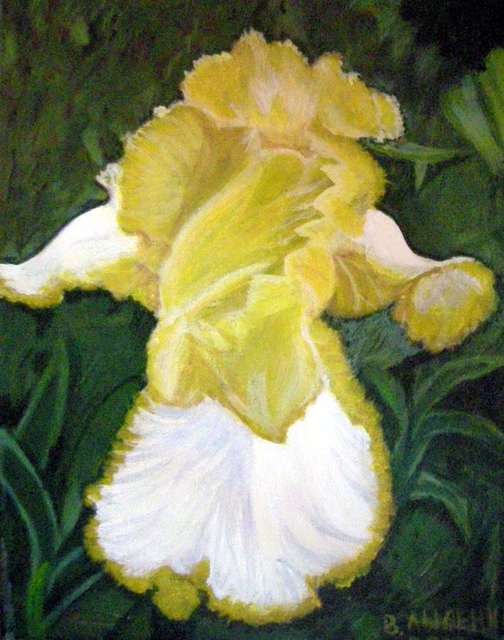 Angel Painting -  Yellow Iris by Vera Lysenko
