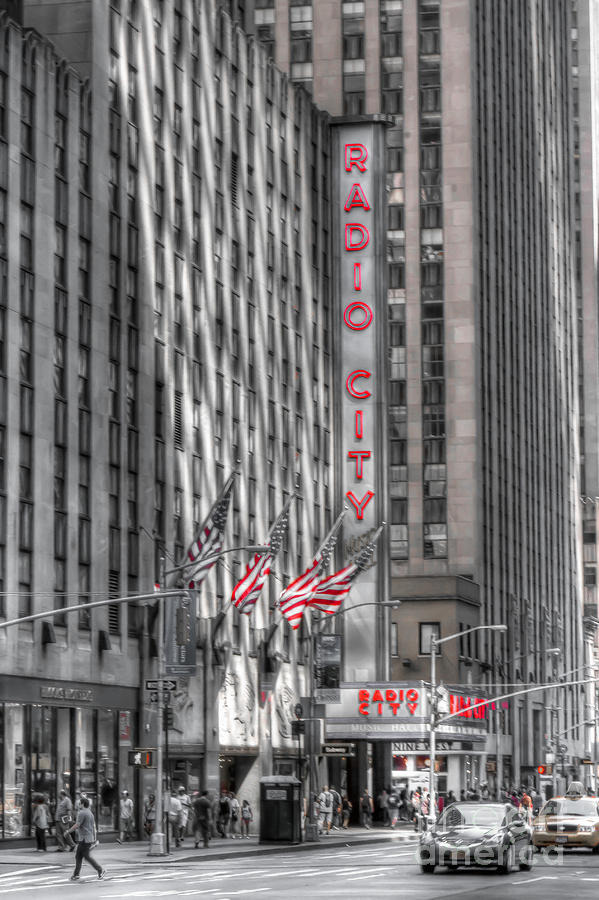 New Photograph - 0007 Radio City Music Hall by Steve Sturgill