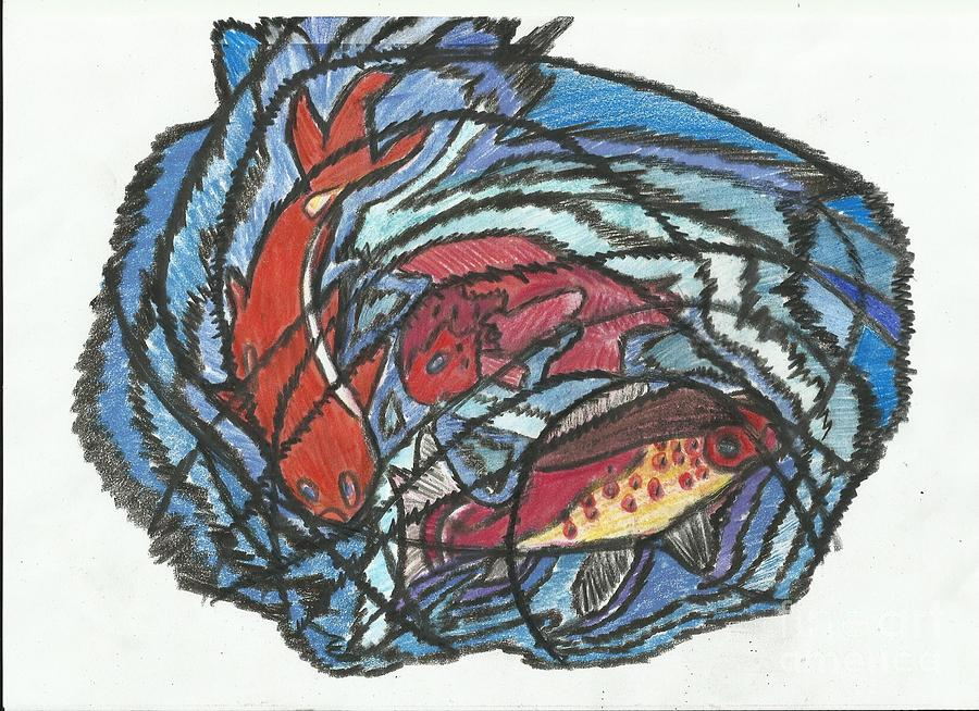 Abstract Drawing - 0038 Fish 2 by essel Emve