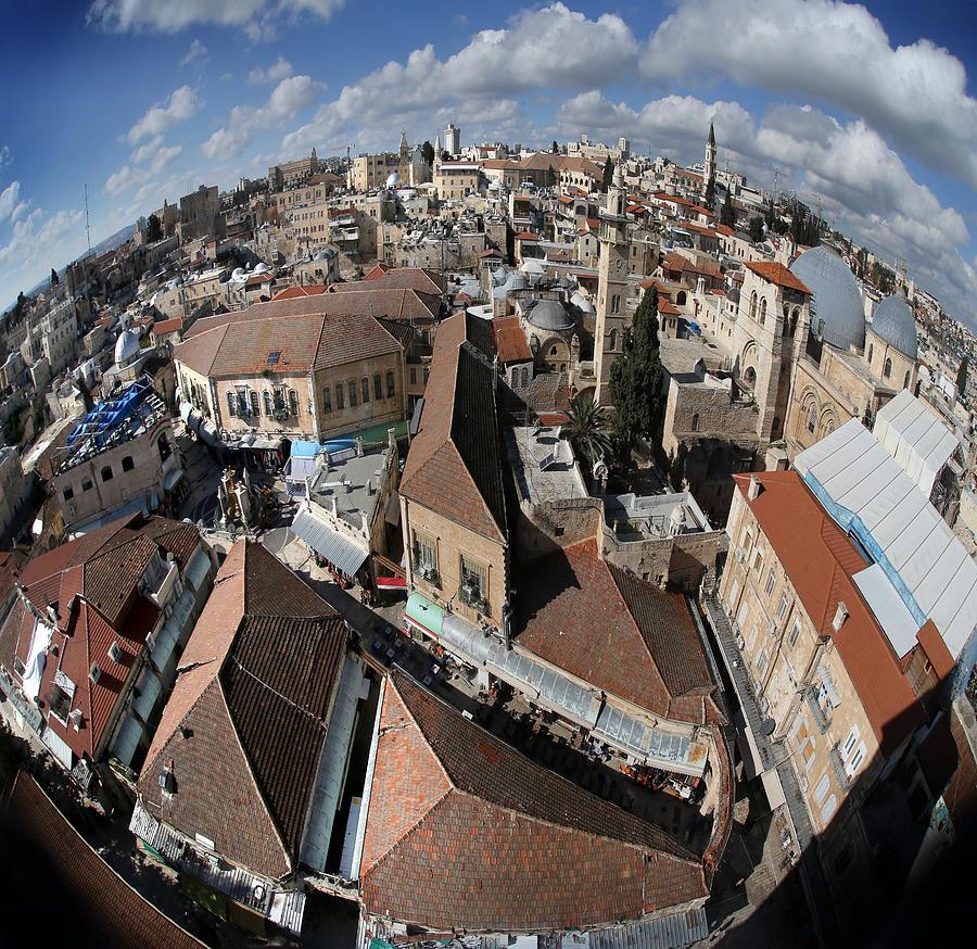 005 Globus Of Jerusalem Photograph by Alex Kolomoisky