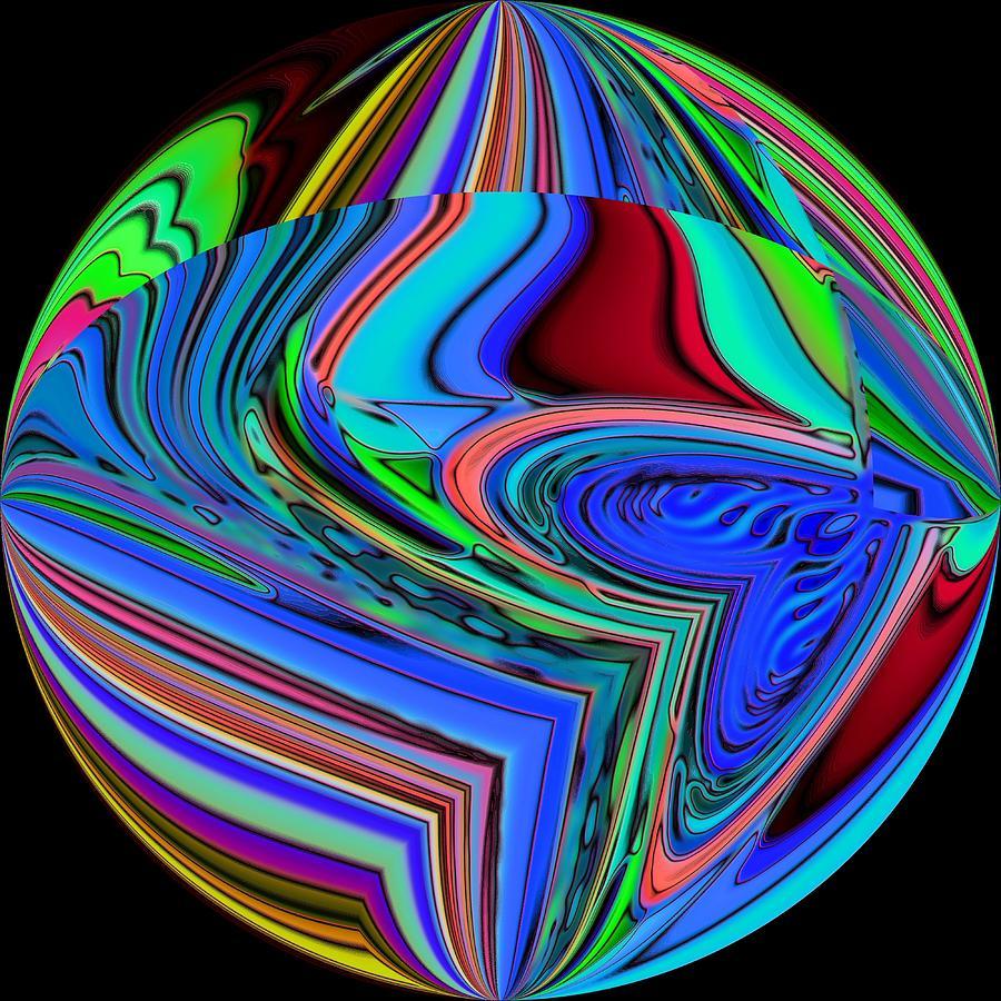 Blue Digital Art - 01-01-2014 by John Holfinger