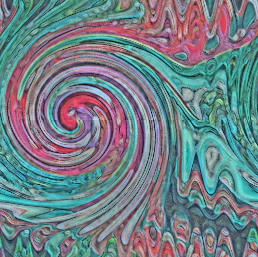 Swirl Digital Art - 01-04-2014 by John Holfinger