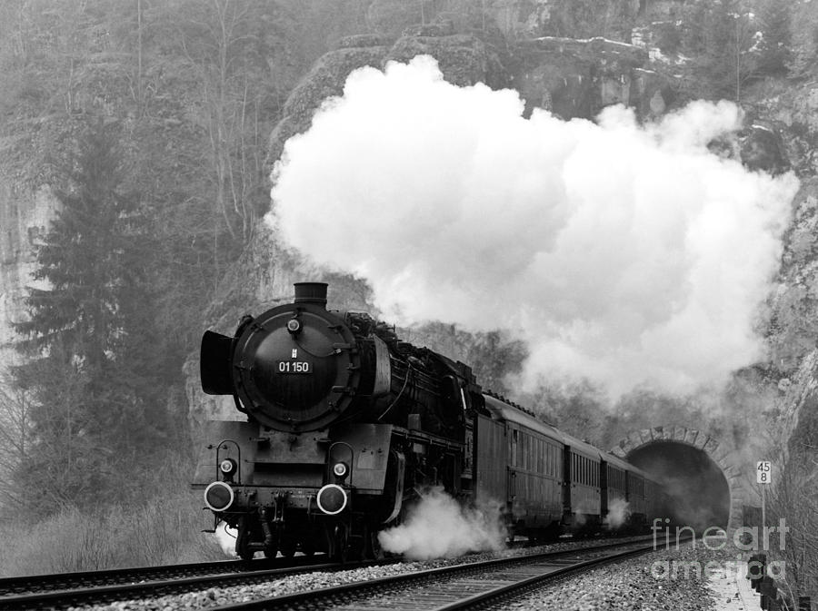 Steam Photograph - 01 150 On Tracks In Franconia by Joachim Kraus