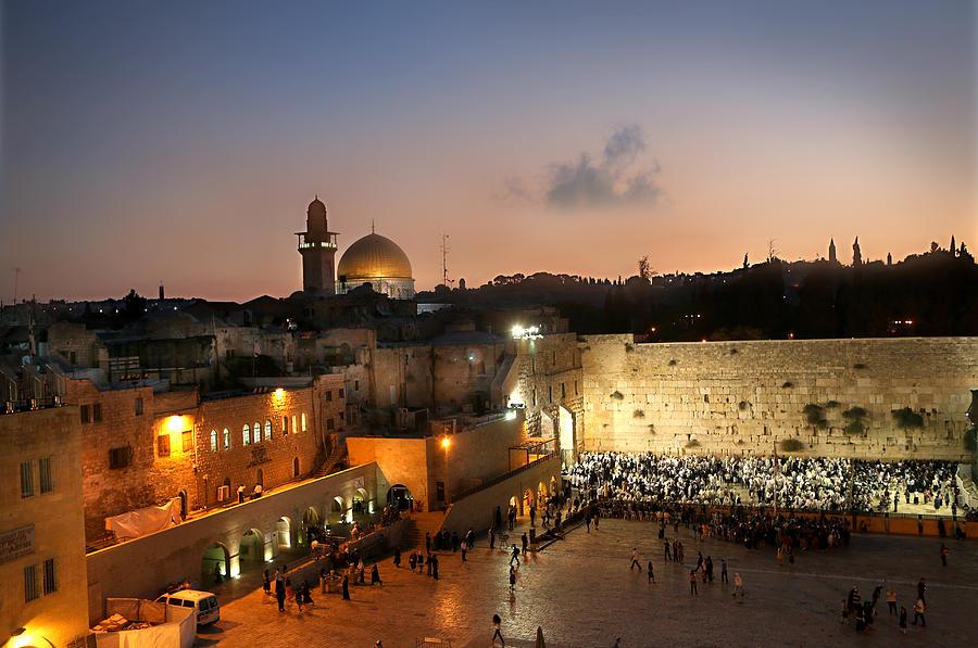 Western Wall Photograph - 017 Jerusalem by Alex Kolomoisky