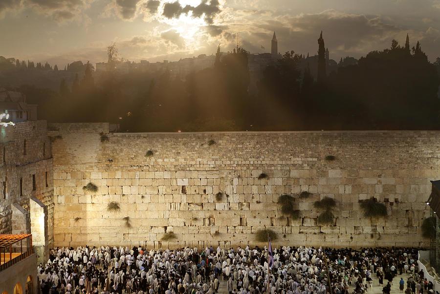 Western Wall Photograph - 018 Jerusalem by Alex Kolomoisky