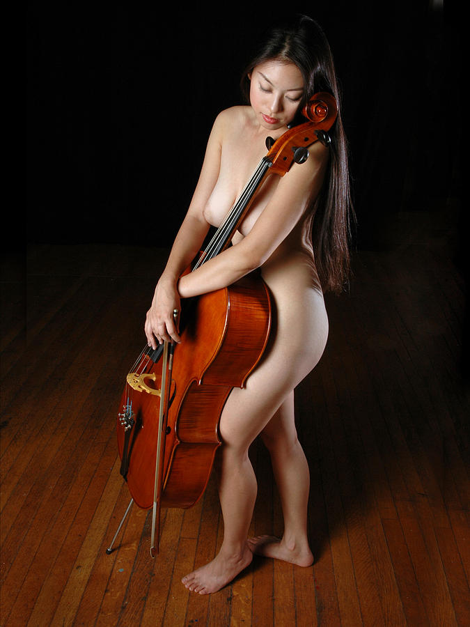 Naked female playing instruments, fat naked girls together