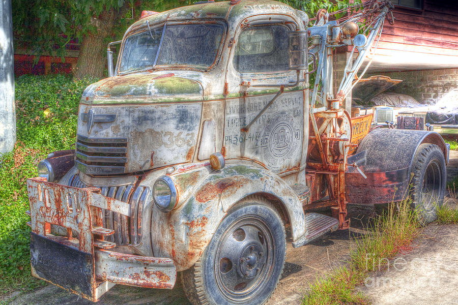 0281 Old Tow Truck Photograph By Steve Sturgill
