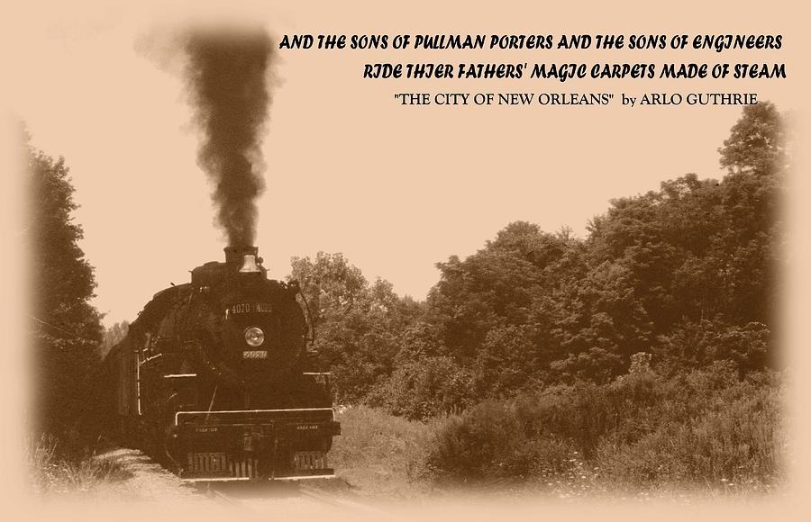 Train Photograph - 040909-1 by Mike Davis
