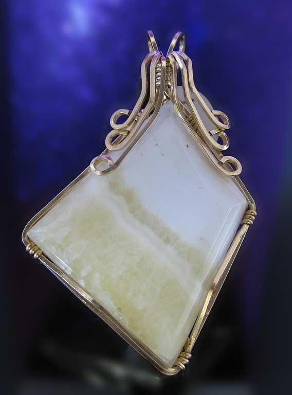 Pendant Jewelry - 0421 Creme Caramel by Dianne Brooks