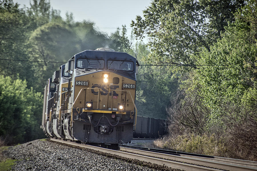 Csx Photograph - 05.07.14 Csx Coal Train At Nortonville Ky by Jim Pearson