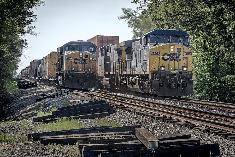 05.07.14 Csx Meet At Hopkinsville Ky Photograph by Jim Pearson