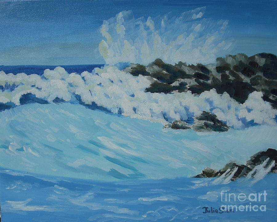 Seascape Painting - 0552 by Julie Shen