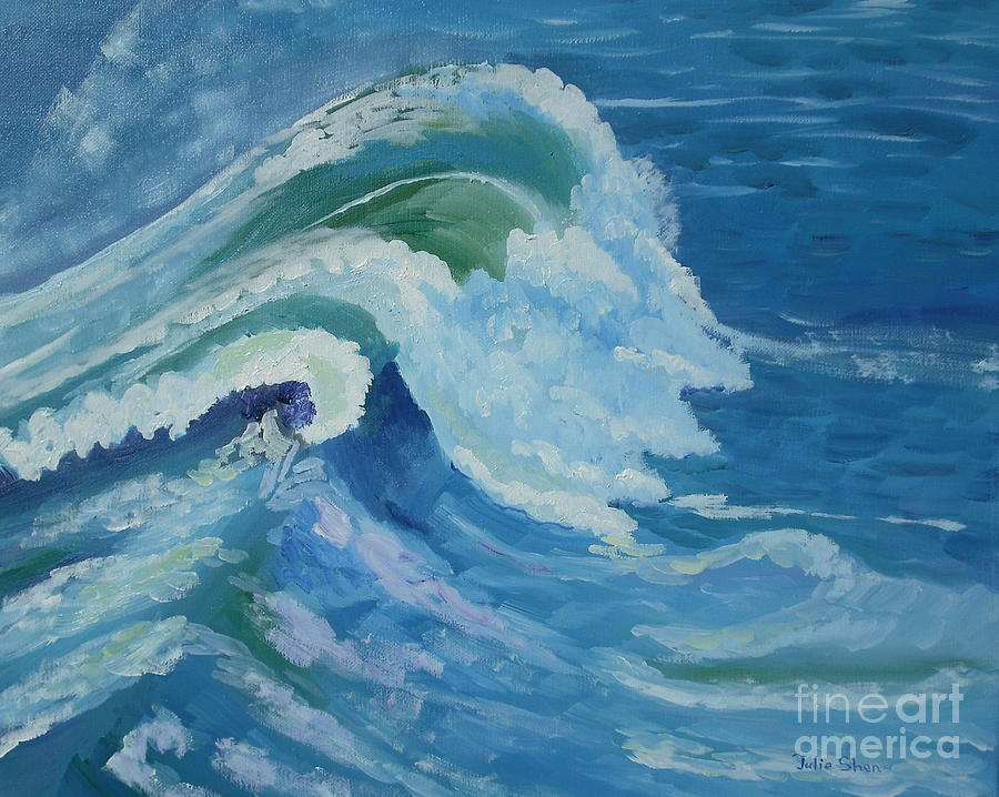 Seascape Painting - 0559 by Julie Shen