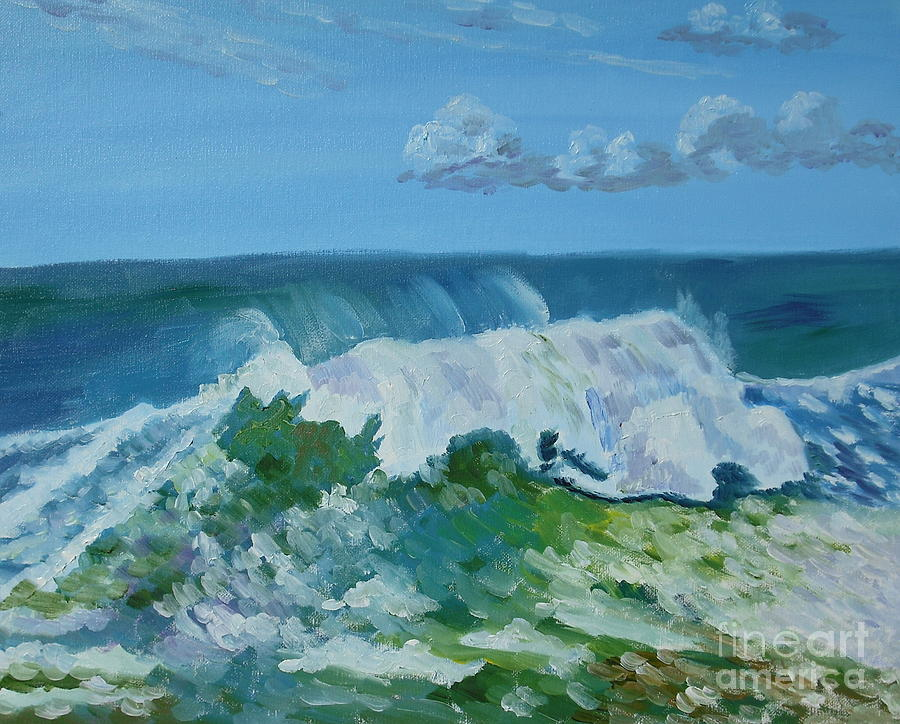 Seascape Painting - 0567 by Julie Shen