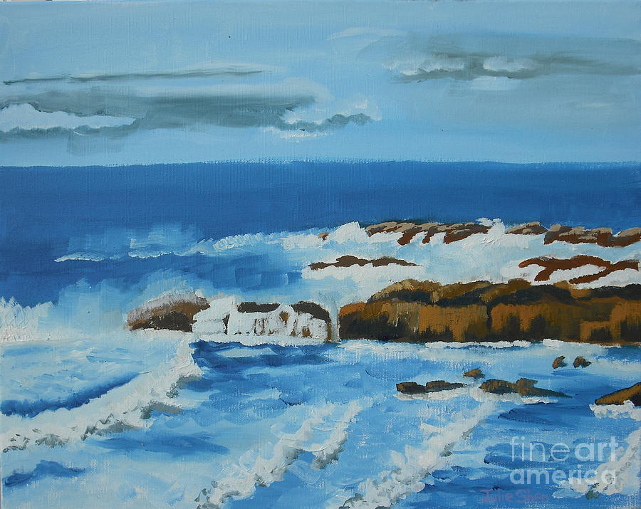 Seascape Painting - 0573 by Julie Shen
