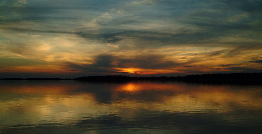 Sunset Photograph - 061010-1 by Mike Davis