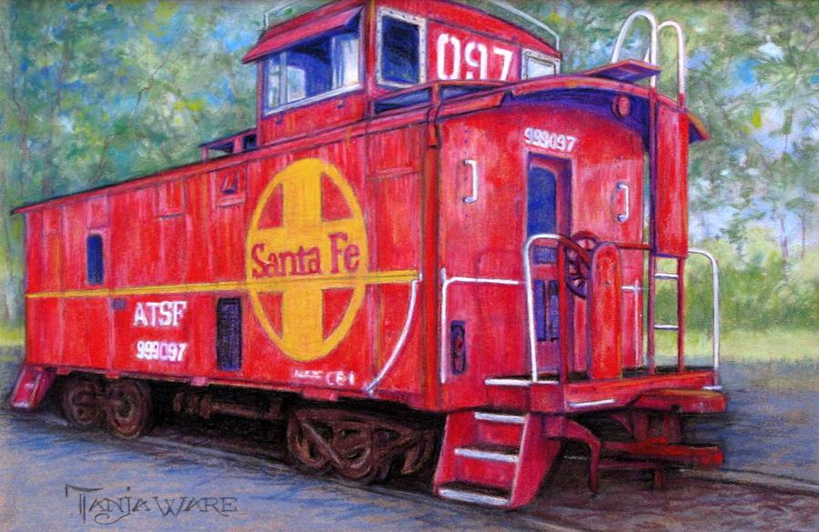 Trains Painting - 097 by Tanja Ware