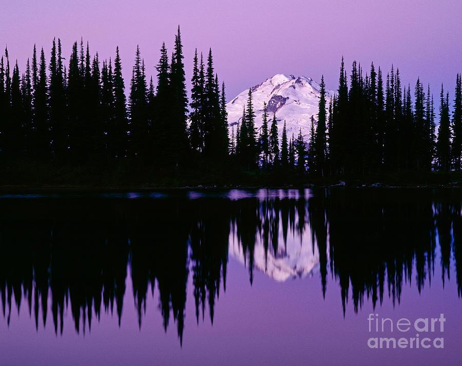 Glacier Peak Photograph -  Glacier Peak  In Image Lake by Tracy Knauer