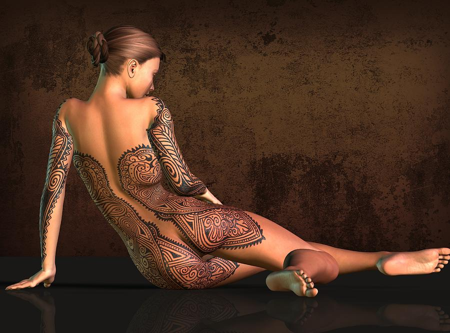 perfect nude tattooed women