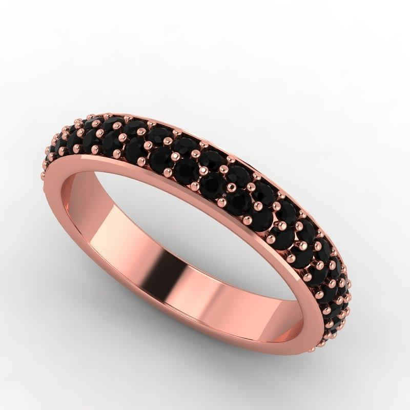 14k Rose Gold Black Diamond Eternity Band Jewelry by Eternity Collection
