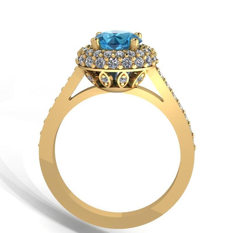 K Yellow Gold Diamond Ring