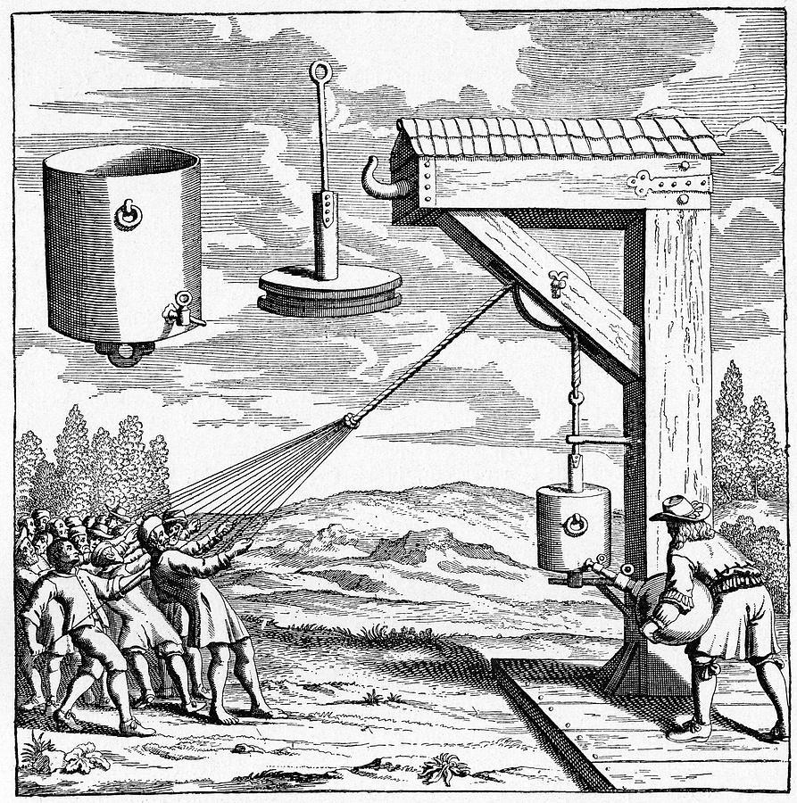 17th Century Photograph - 17th Century Vacuum Experiment by Cci Archives