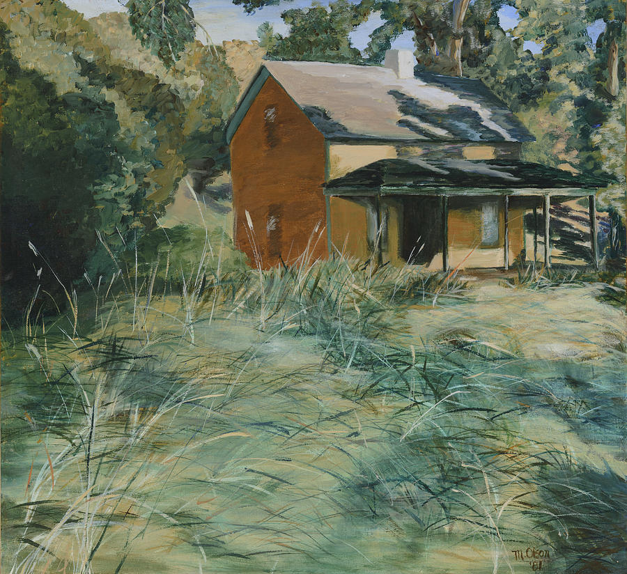 1904 Farmhouse Painting by Illusions Maya