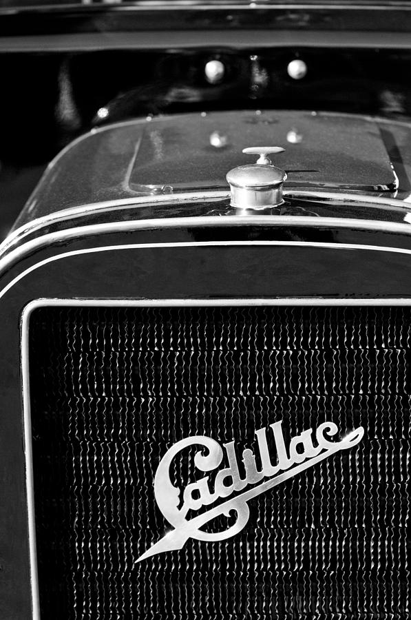 Black And White Photograph - 1907 Cadillac Model M Touring Grille Emblem by Jill Reger