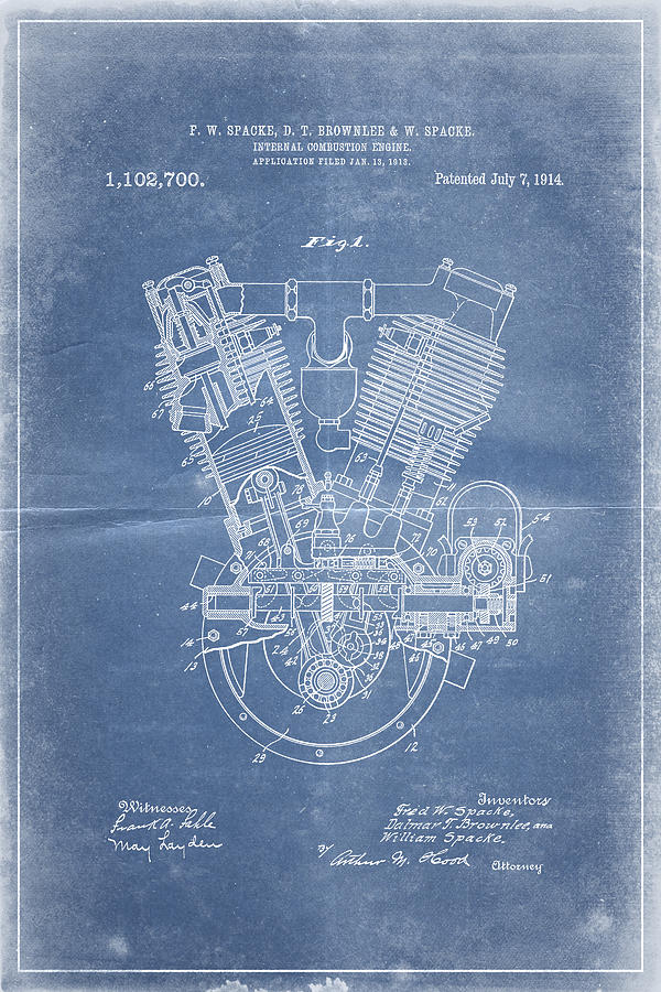 Steve king artwork for sale victoria bc canada 1914 engine patent art blueprint by industrial prints malvernweather Choice Image