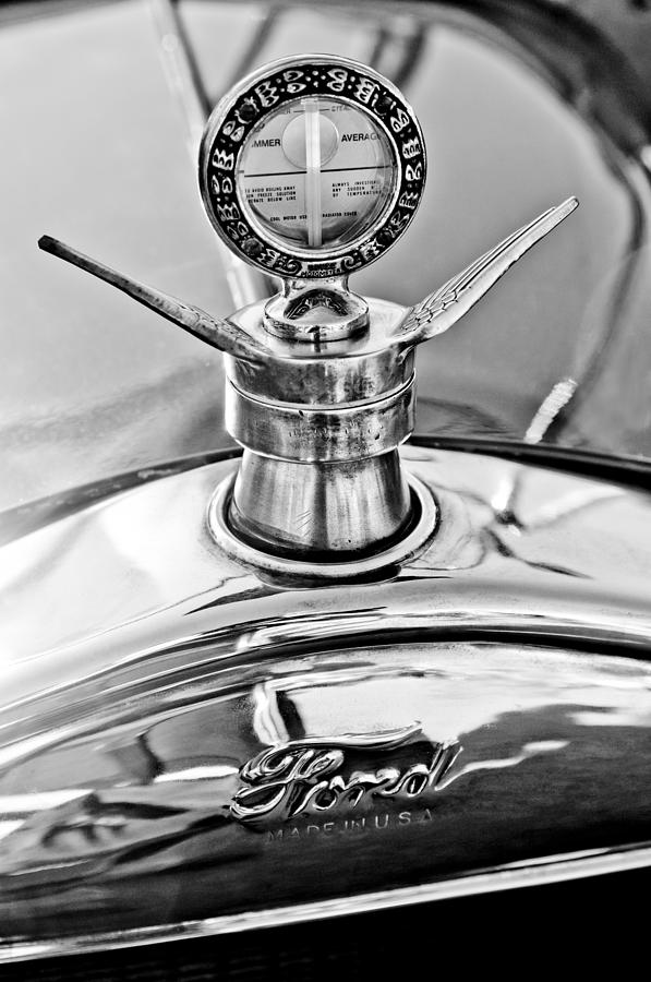 1923 Ford Model T Photograph - 1923 Ford Model T Hood Ornament by Jill Reger