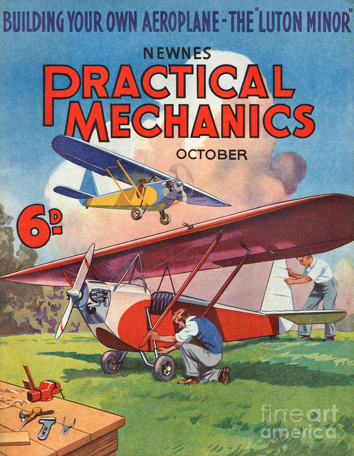 Magazine Cover Drawing - 1930s Uk Practical Mechanics Magazine by The Advertising Archives