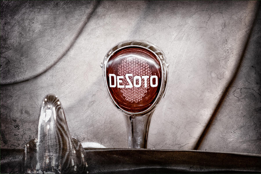1934 Desoto Airflow Coupe Taillight Emblem Photograph - 1934 Desoto Airflow Coupe Taillight Emblem by Jill Reger