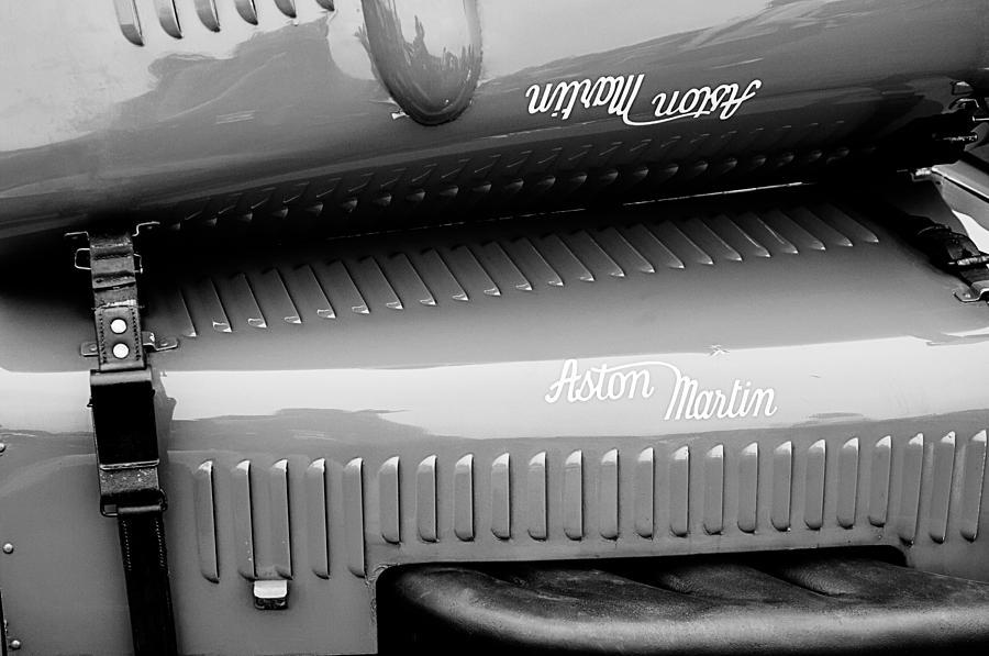 Aston Martin Photograph - 1935 Aston Martin Ulster Race Car Hood by Jill Reger