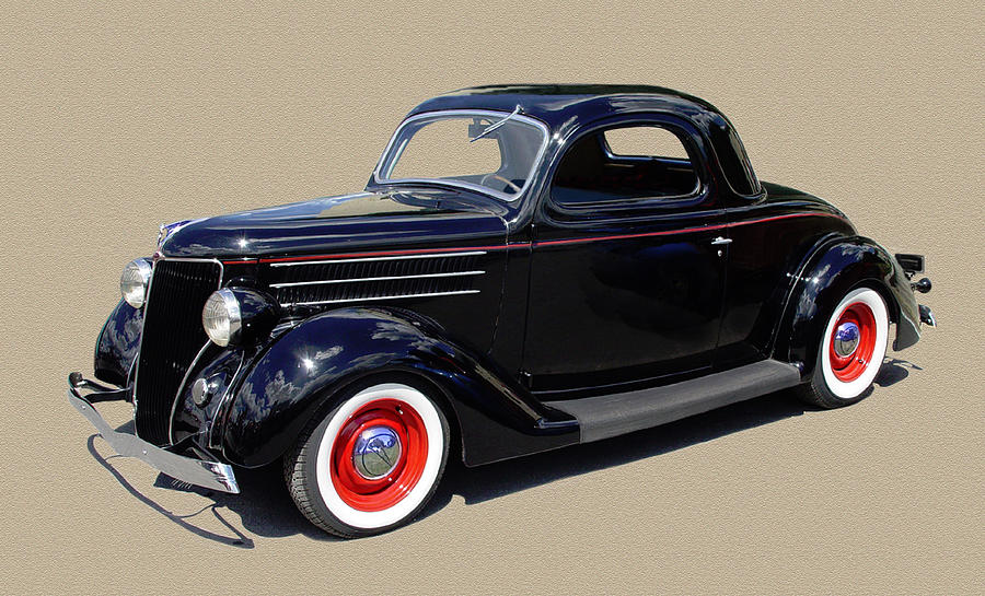 1936 Ford 3 Window Coupe Photograph by Jack Pumphrey