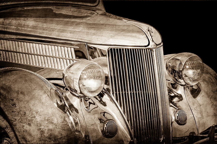 1936 Ford Stainless Steel Body Photograph - 1936 Ford - Stainless Steel Body by Jill Reger