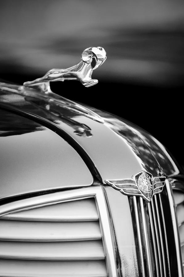 Dodge Hood Ornament Photograph - 1937 Dodge Hood Ornament - Emblem by Jill Reger
