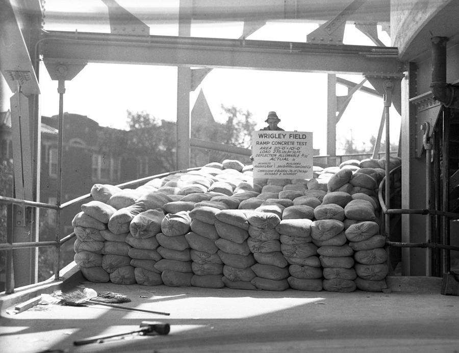 Hit Photograph - 1937 Load Test At Wrigley Field Bleachers by Retro Images Archive