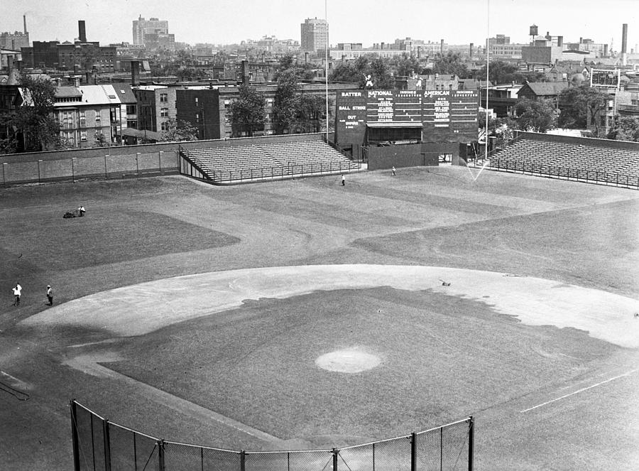 Hit Photograph - 1937 Wrigley Field Scoreboard by Retro Images Archive