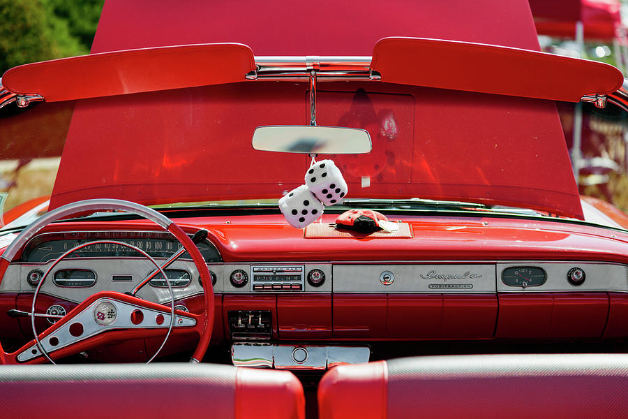 Horizontal Photograph - 1950s Chevrolet Impala Detail by Panoramic Images