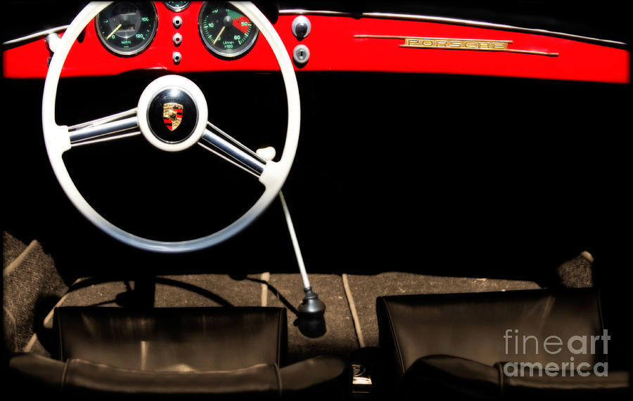 Old Cars Photograph - 1954 Porsche Speedster  by Steven Digman