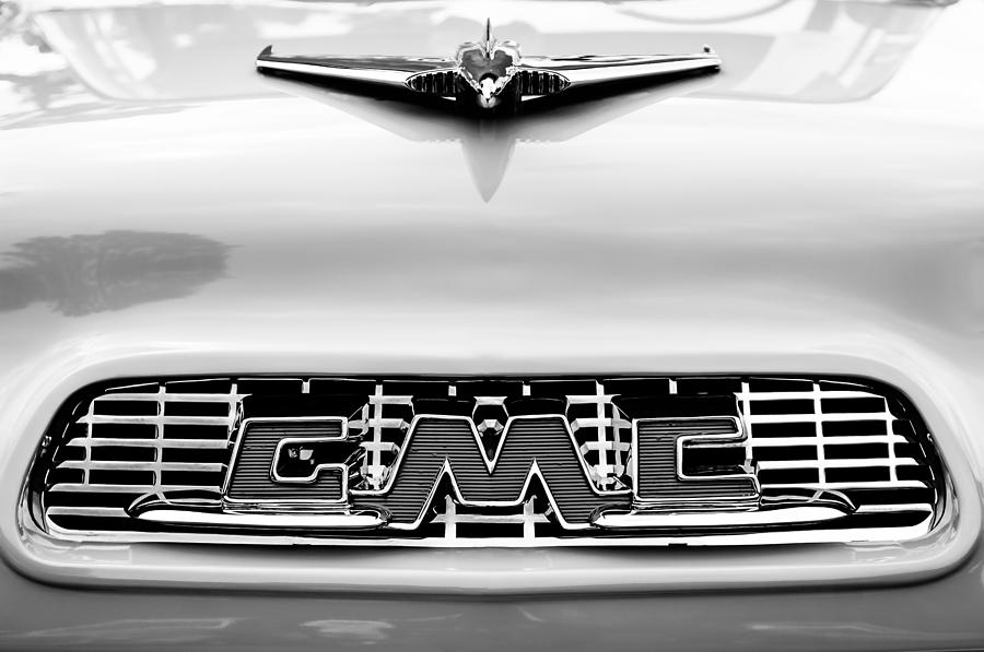 1956 Gmc Photograph - 1956 Gmc 100 Deluxe Edition Pickup Truck Hood Ornament - Grille Emblem by Jill Reger