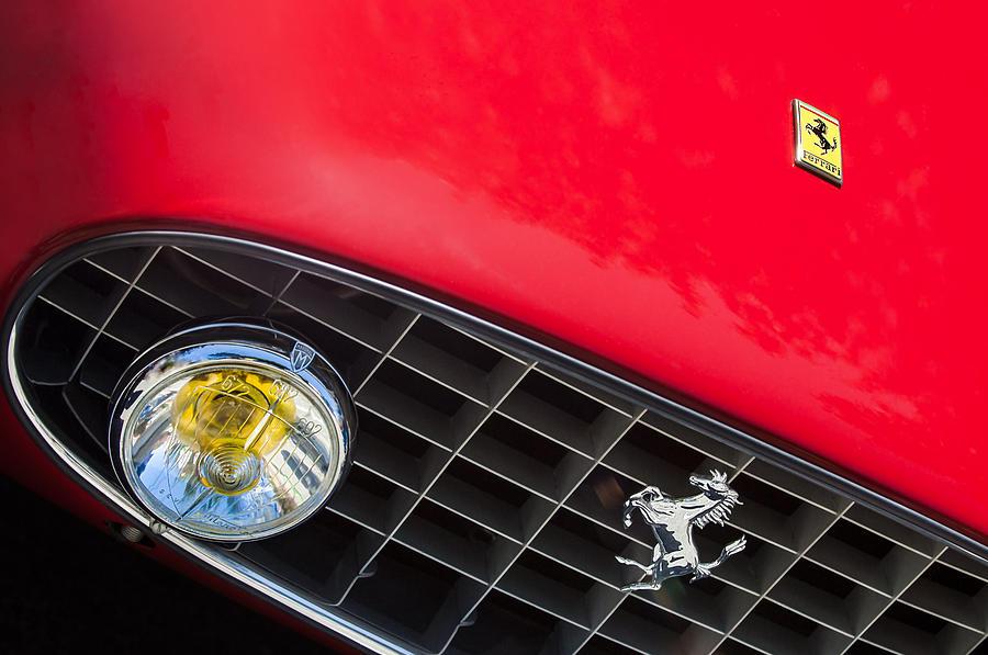 Ferrari Photograph - 1957 Ferrari 410 Superamerica Series II Grille Emblem by Jill Reger
