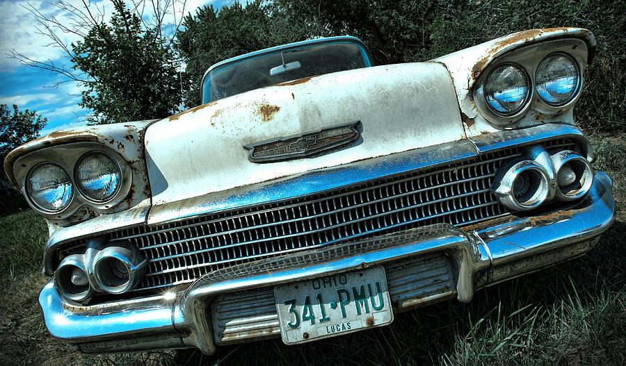 1958 Photograph - 1958 Chevy Bel Air by Gordon Dean II