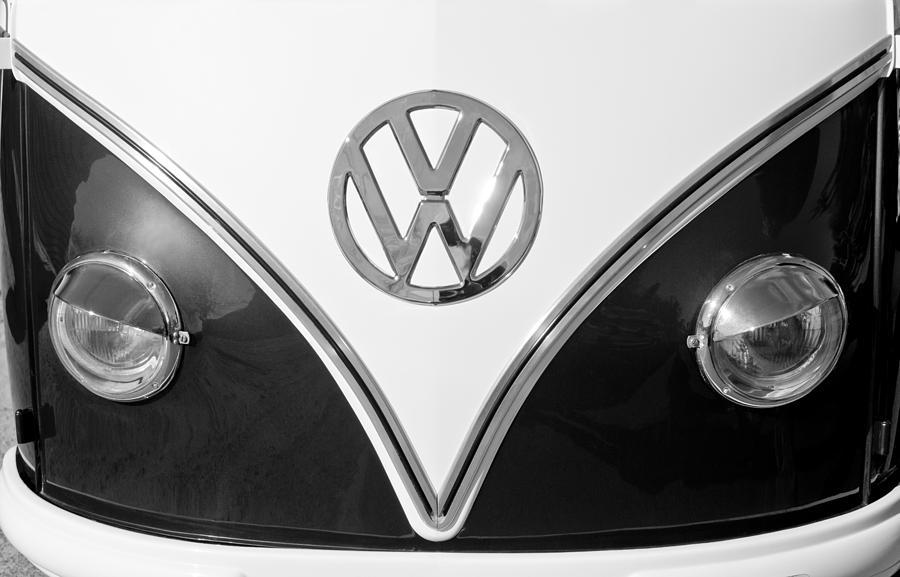 dc1a221cf 1958 Volkswagen Vw Bus Hood Emblem Photograph by Jill Reger