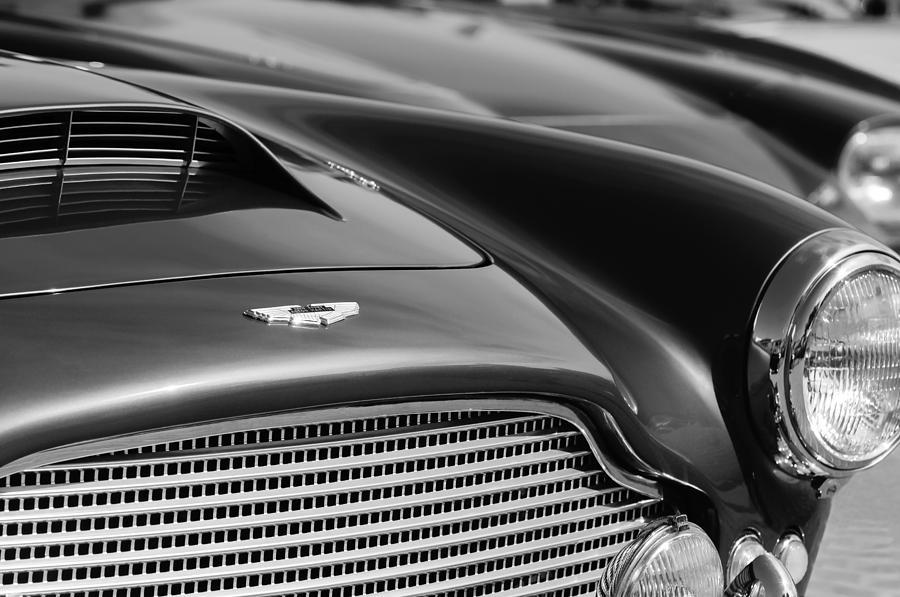 Grill Photograph - 1960 Aston Martin Db4 Series II Grille - Hood Emblem by Jill Reger
