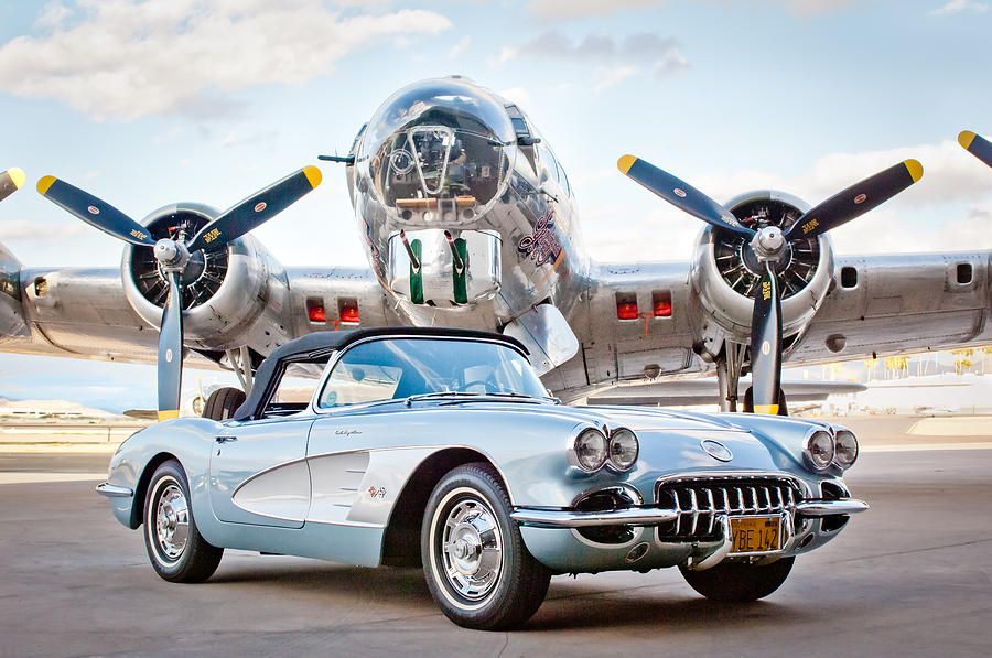 1960 Chevrolet Corvette Photograph - 1960 Chevrolet Corvette by Jill Reger