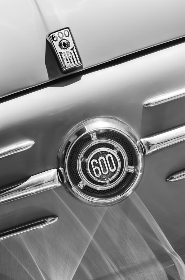 1960 Fiat 600 Jolly Emblem Photograph - 1960 Fiat 600 Jolly Emblem by Jill Reger