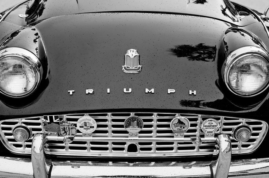 1960 Triumph Tr 3 Grille Emblems Photograph - 1960 Triumph Tr 3 Grille Emblems by Jill Reger