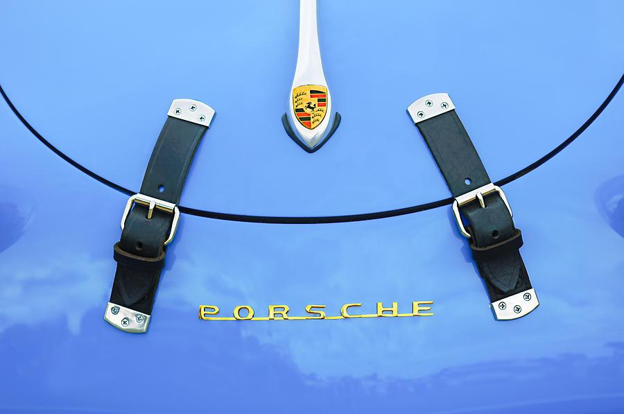 Sports Cars Photograph - 1960 Volkswagen Vw Porsche 356 Carrera Gs-gt Replica Hood Ornament by Jill Reger